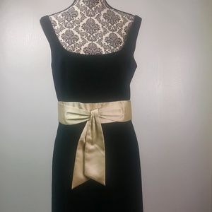 Ann Taylor dress size 12 black gold cocktail party